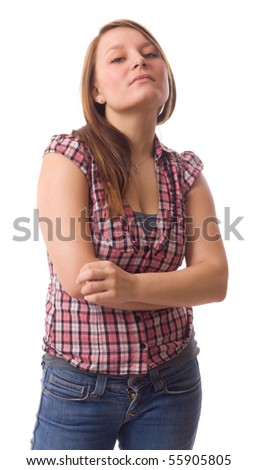 young women - stock photo