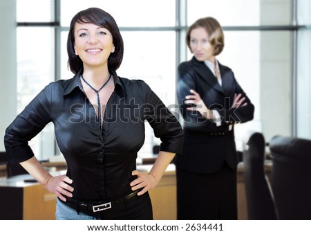 young women-businessteam - stock photo