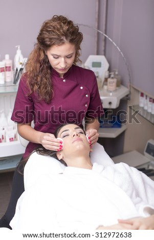 Young women having a cosmetic treatment