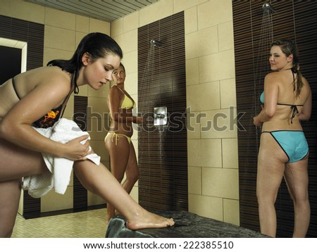 Young Women in Shower Room