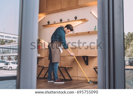 Work Clothes Sweep Stock Images Royalty Free Images