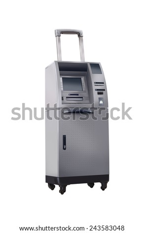 your bank travels with you! - stock photo