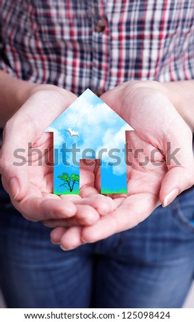 Your future is in your hands, create, and do not expose - stock photo