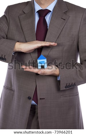 Your professional house insurance solution for the best protection - stock photo