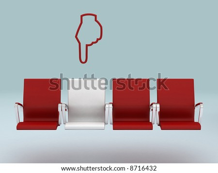 Your special seat concept , rendered in 3d - stock photo