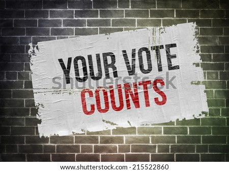 your vote counts - poster concept - stock photo