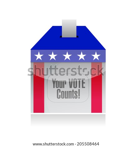 your vote counts voting poll illustration design over a white background - stock photo