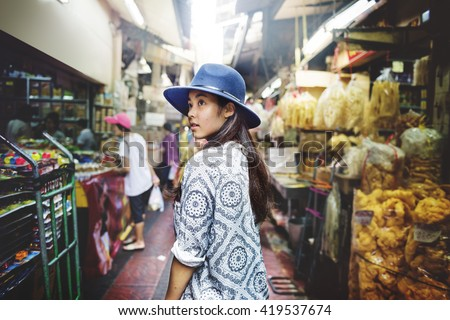 Youth Culture Travel Holiday Relaxation Concept - stock photo