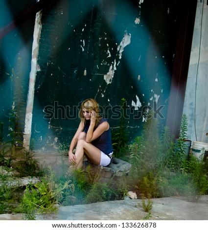 Youth Depression - stock photo