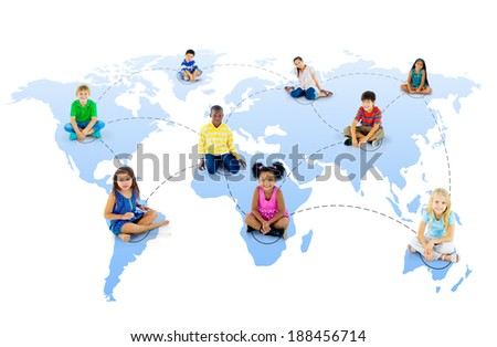 Youth Global Network - stock photo