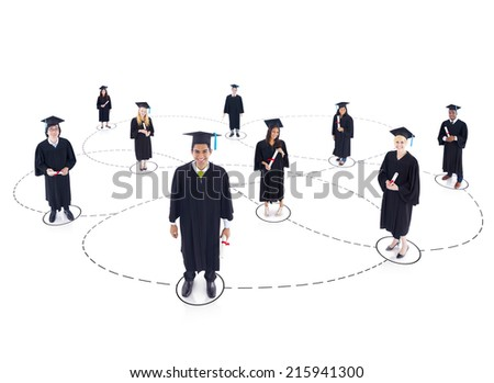 Youth network - stock photo