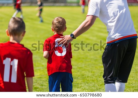 Youth Soccer Substitution.