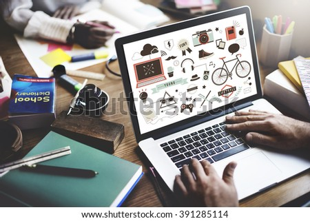 Youth Social Media Technology Lifestyle Concept - stock photo