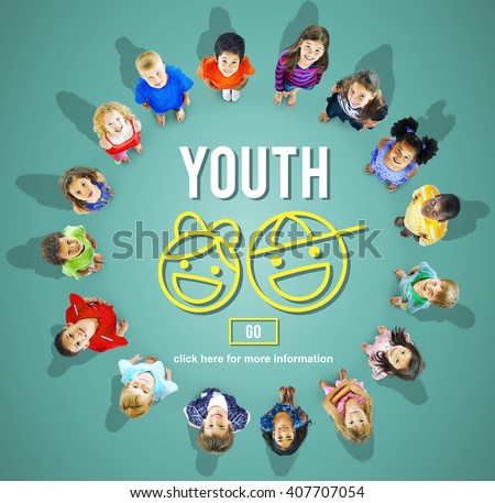 Youth Young Adult Kids Child Concept - stock photo