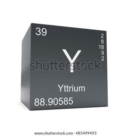 Yttrium Chemical Element Symbol Periodic Table Stock Illustration