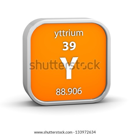 Symbol chemical element yttrium seen on stock vector 657040273 yttrium material on the periodic table part of a series urtaz Images