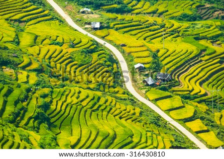 Most Beautiful Rice Terrace Tule Mu Stock Photo 186197756 ...