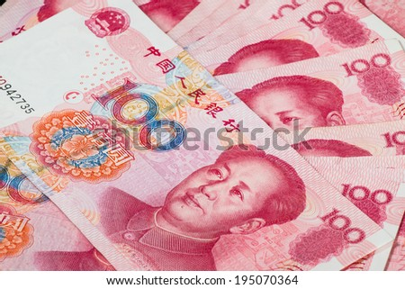 Yuan or RMB, Chinese Currency - stock photo
