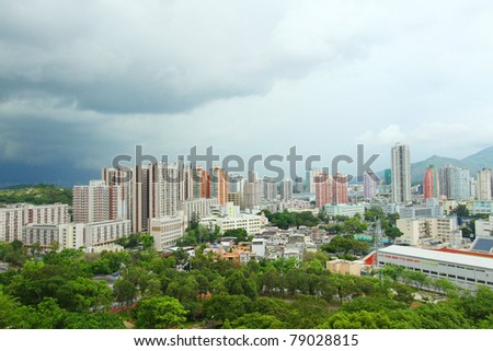 Yuen Long district in Hong Kong at day time
