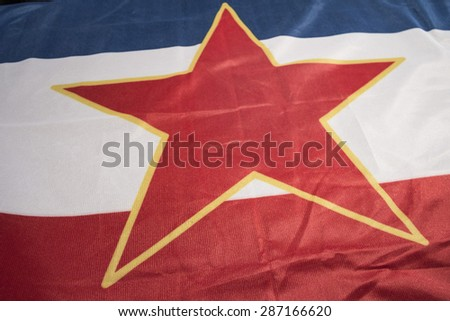 Yugoslav flag - stock photo