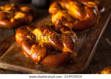 Yummy Cheesy German Soft Pretzels with Salt