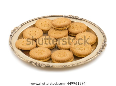 Yummy Cookies on White Background  - stock photo