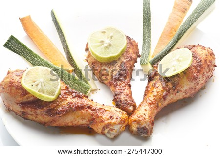Yummy delicious tandoori chicken - stock photo