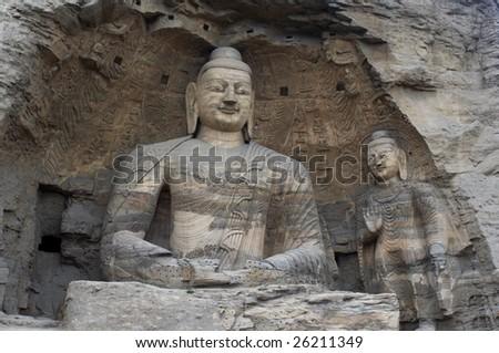 Yungang Caves - stock photo