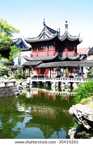 Yuyuan Garden in Shanghai, China - stock photo