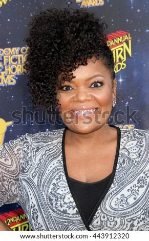Yvette Nicole Brown arrives at the 42nd Annual Saturn Awards on Wednesday, June 22, 2016 at the Castaway Restaurant in Burbank, CA.