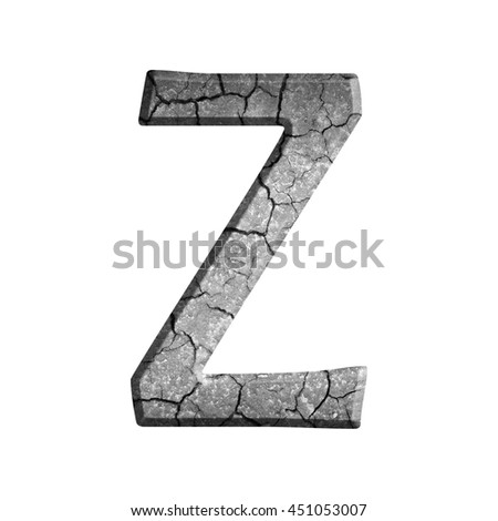 Z-Alphabet from the crack of the ground