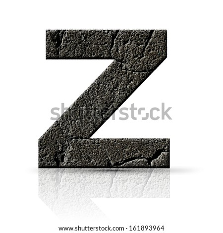 z  letter cracked cement texture