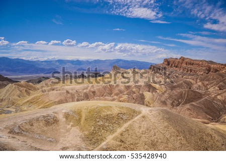 Zabriskie Point at Death Valley National Park, U.S.A