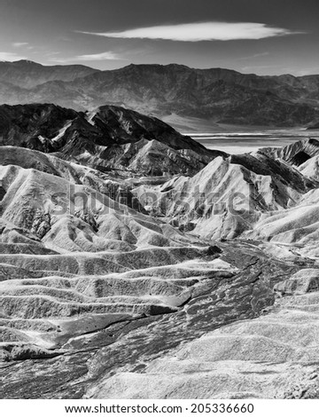 Zabriskie Point Black and White