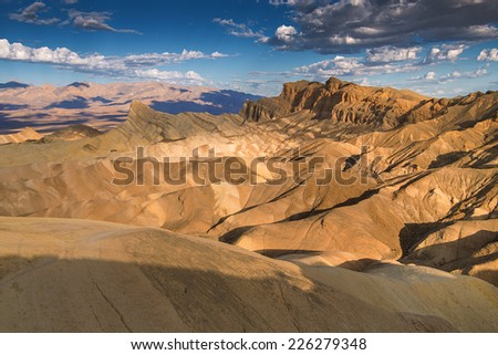 Zabriskie Point in Death Valley, California, USA