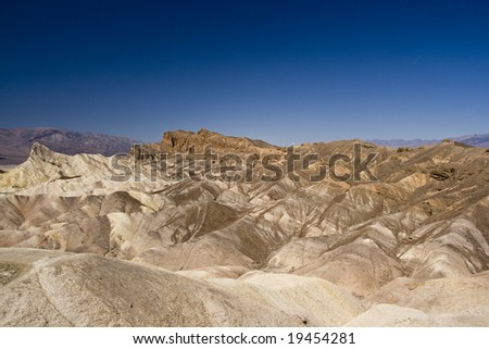 Zabriskie point in Death Valley National Park , California