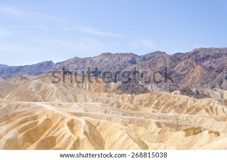 Zabriskie Point in Death Valley National Park, California, USA - stock photo