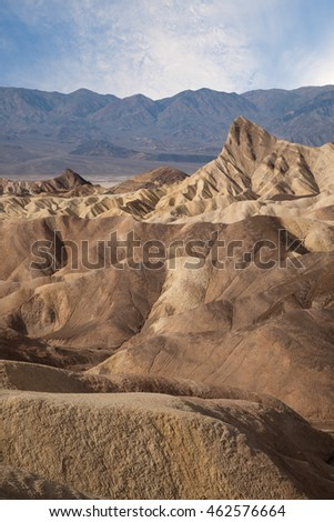 Zabriskie Point is a part of Amargosa Range located east of Death Valley in Death Valley National Park in California, United States noted for its erosional landscape.
