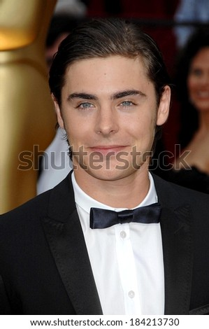 Zac Efron at 81st Annual Academy Awards - ARRIVALS, Kodak Theatre, Los Angeles, CA 2/22/2009