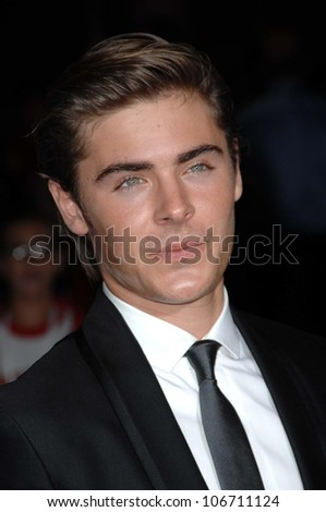 Zac Efron  at the Los Angeles Premiere of 'High School Musical 3 Senior Year'. USC, Los Angeles, CA. 10-16-08