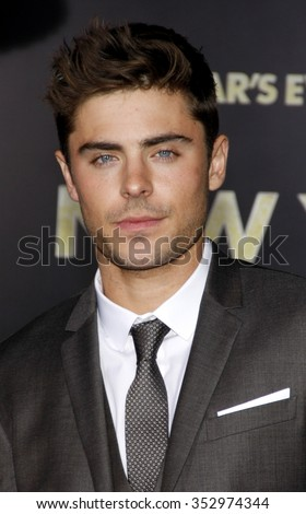 "Zac Efron at the Los Angeles Premiere of ""New Year's Eve"" held at the Grauman's Chinese Theater in Los Angeles, California, United States on December 5, 2011. - stock photo"