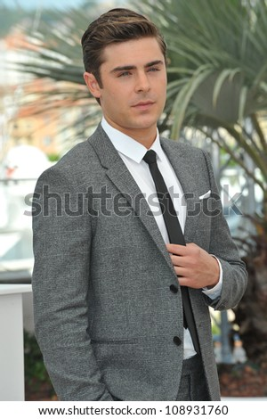 "Zac Efron at the photocall for his new movie ""The Paperboy"" in competition at the 65th Festival de Cannes. May 24, 2012  Cannes, France Picture: Paul Smith / Featureflash"