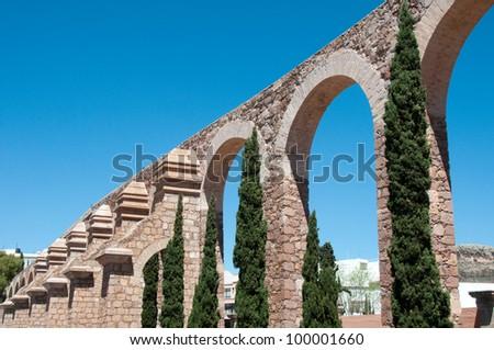 Zacatecas Aqueduct, Mexico - stock photo