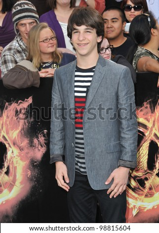 "Zachary Gordon at the world premiere of ""The Hunger Games"" at the Nokia Theatre L.A. Live. March 12, 2012  Los Angeles, CA Picture: Paul Smith / Featureflash"