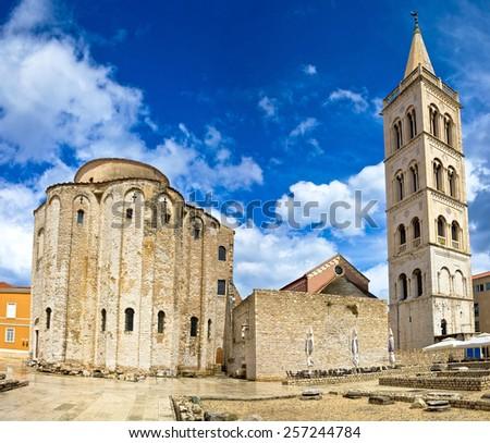 Zadar cathedral famous landmark of Croatia, adriatic region of Dalmatia - stock photo
