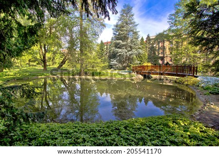 Zagreb botanical garden city oasis - nature and lake