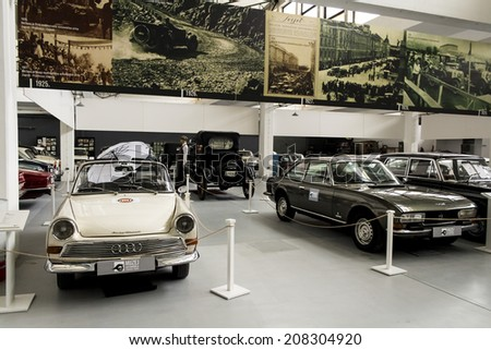 ZAGREB, CROATIA -  FEBRUARY 23, 2014: Car museum Ferdinand Budicki, first car museum in Zagreb, Croatia