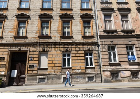 Zagreb, Croatia - July 15, 2015: Buildings in the city center of Zagreb, Croatia. Architecture of the city.