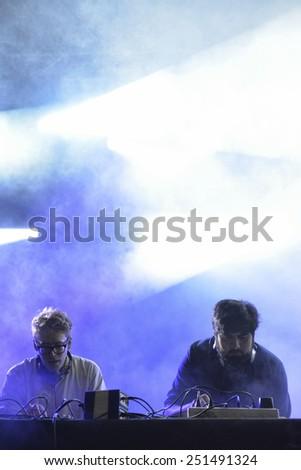 ZAGREB, CROATIA - 25 JUNE, 2014: Digitalism performing at InMusic Festival. - stock photo
