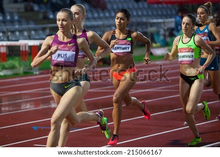 ZAGREB, CROATIA - SEPTEMBER 2, 2014: IAAF World Chalenge zagreb - 64th Boris Hanzekovic Memorial. 1500m (Women).